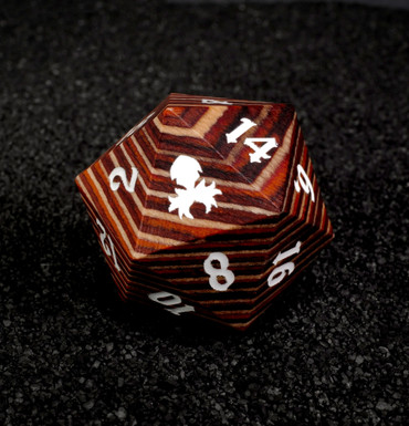 Light Colored 30mm Wooden D20