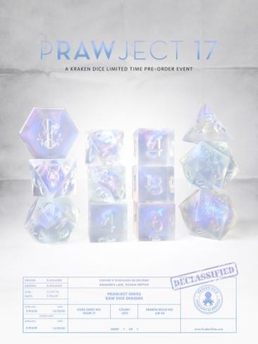 PRAWJECT:17 RAW RPG Dice Set