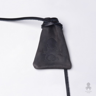 Old World Leather Dice Bag