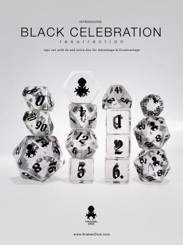Black Celebration: Resurrection 14pc Dice Set