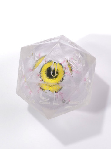Gazing Eye: Yellow Iris Single D20