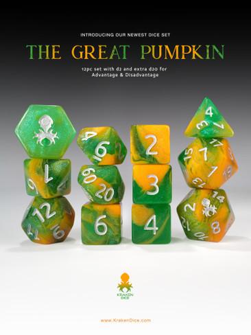 The Great Pumpkin 12pc RPG Dice Set