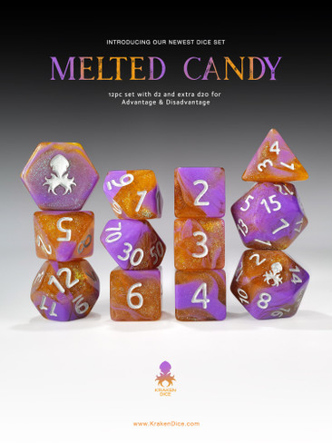 Melted Candy 12pc RPG Dice Set