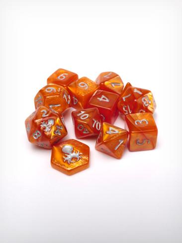 Feytfull Amber 12pc 10mm Mini RPG Dice Set