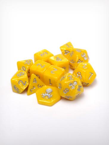 Feytfull Jasper 12pc 10mm Mini RPG Dice Set
