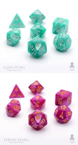 Aqua & Tyrian Pearl Combo