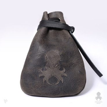 Medium Dice Bag In Old World Leather
