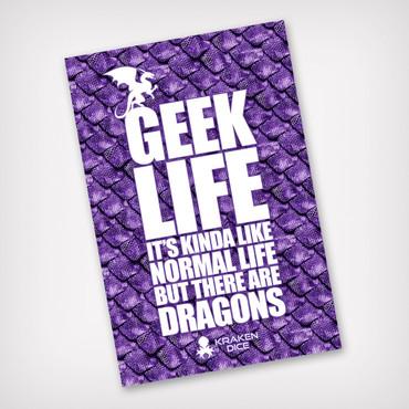 Geek Life Kraken Branded Sticker
