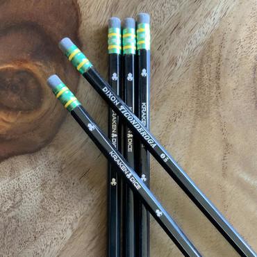 Five Dixon Tigonderoga Kraken Dice #2 Pencils