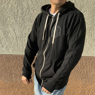 Kraken Dice Zip Up Hoodie with Thumb Holes
