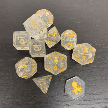 Winter Wonderland 12pc Polyhedral Dice Set for RPGs