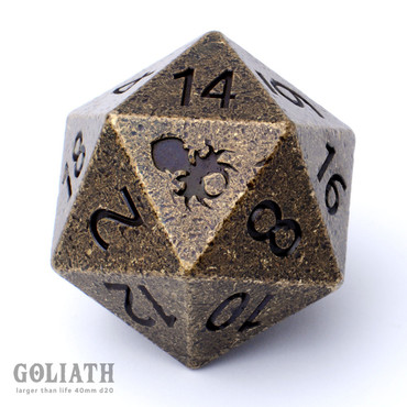 Goliath Dwarven Brass 40mm Single D20