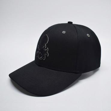 Kraken Logo Grey Silhouette Snapback Baseball Hat