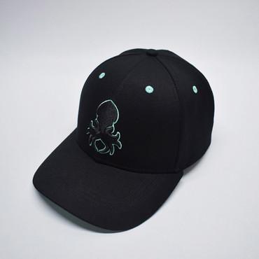 Kraken Logo Teal Silhouette Snapback Baseball Hat
