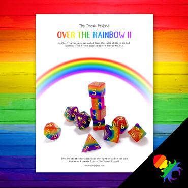 The Trevor Project Over The Rainbow II 11pc Dice Set