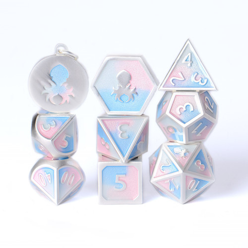 Candy Cloud Metal Dice Set for TTRPG