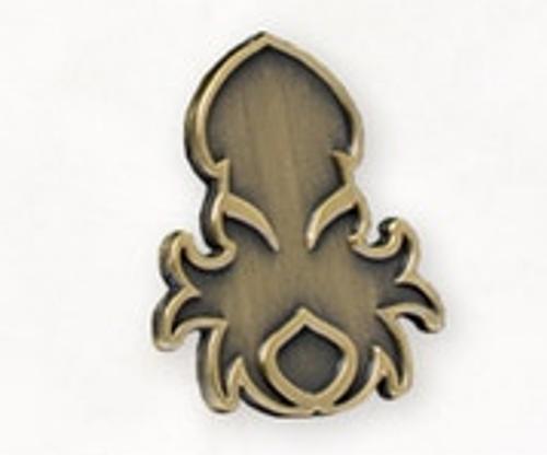 Kraken Logo Lapel Pin in Brass