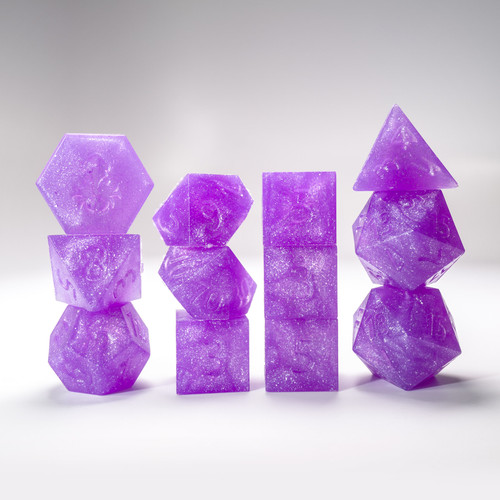RAW Purple Reins 12pc Glimmer RPG Dice Set