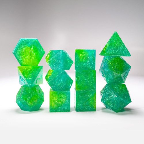 Raw Fern 12pc Glimmer RPG Dice Set