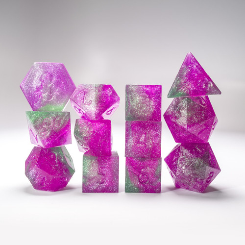 Raw Poison Ivy 12pc Glimmer RPG Dice Set