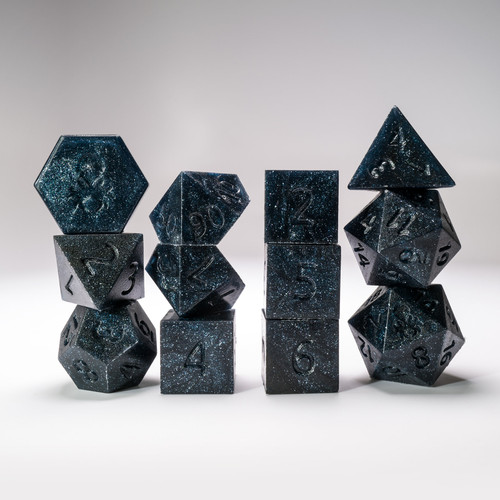 RAW 12pc Abyss Glimmer RPG Dice Set