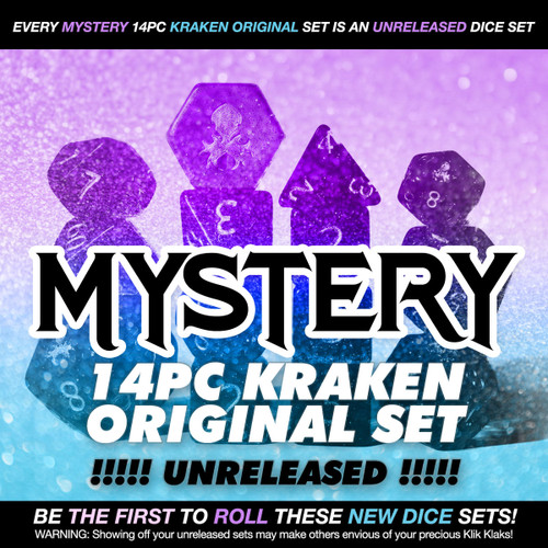 Mystery Unreleased 14pc Dice Set for TTRPGs