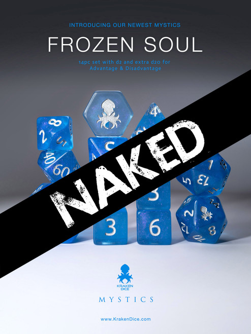 Frozen Soul 14pc Naked Dice Set With Kraken Logo