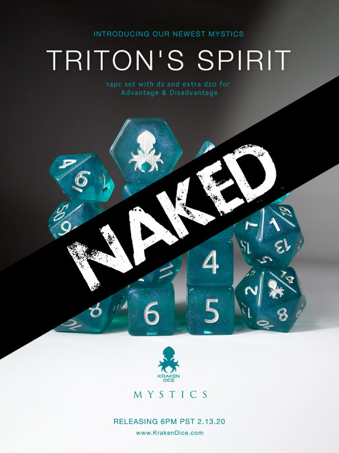 Triton's Spirit 14pc Naked Dice Set