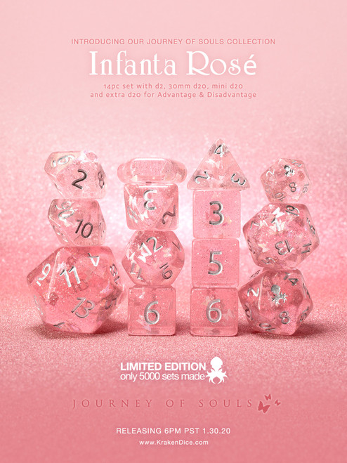 Infanta Rosé 14pc Limited Edition Dice Set