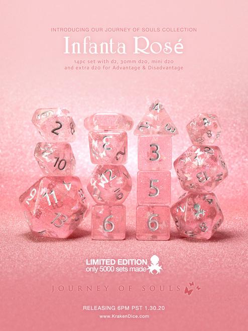 Infanta Rosé 14pc Limited Edition Dice Set