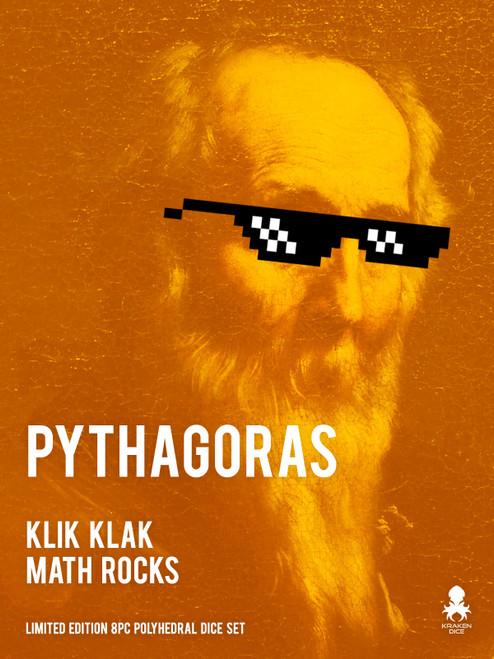 Pythagoras: Klik Klak Math Rocks Limited Edition 8pc Polyhedral Dice Set