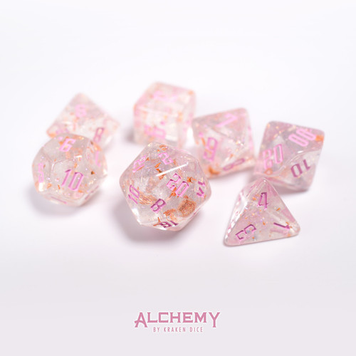 7pc Fragments of Venus with Pink Ink