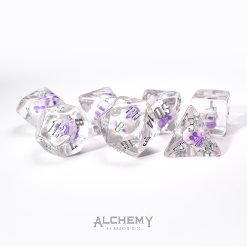 Lich's Phylactery: Amethyst Skulls with Silver Ink