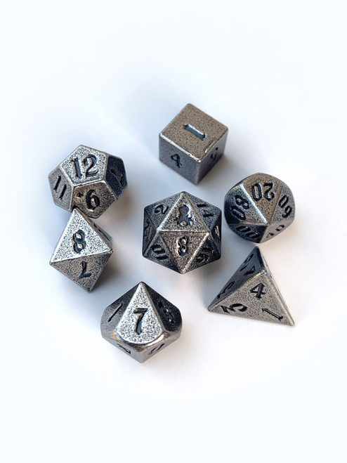 Mini Rite of Steel 10mm Metal Dice Set for RPGS