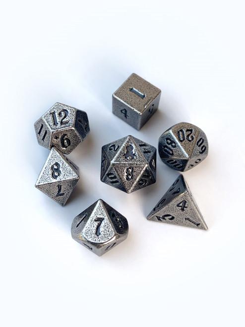 Mini Rite of Steel 10mm Metal Dice Set for RPGS
