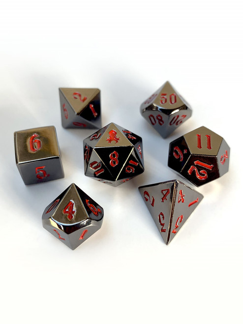Mini Prince's Dark Rite 10mm Metal Dice Set for RPGS