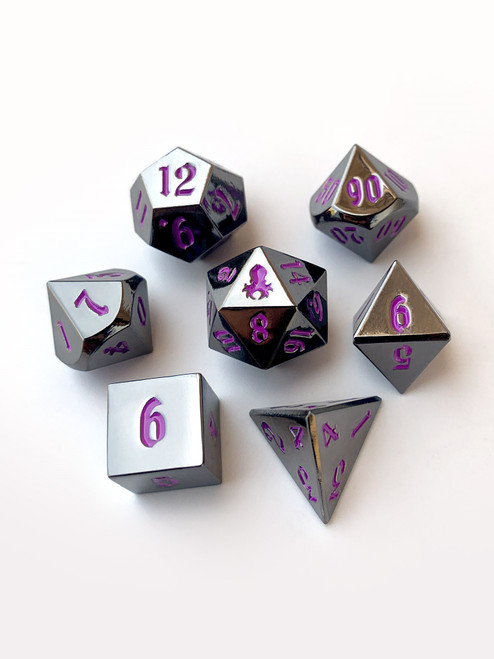 Mini Emperor's Dark Rite 10mm Metal Dice Set for RPGS