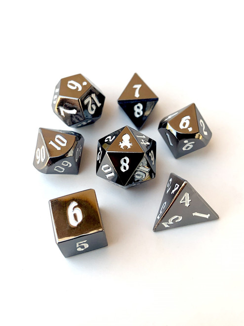 Mini Paladin's Dark Rite 10mm Metal Dice Set for RPGS