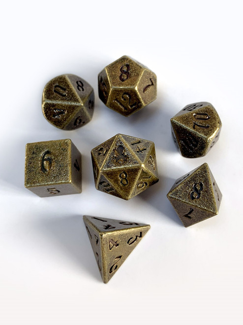 Mini Rite of Copper 10mm Metal Dice Set for RPGS
