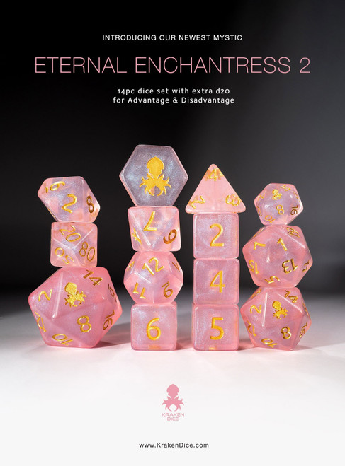 Eternal Enchantress 2  Mystics 14pc Dice Set