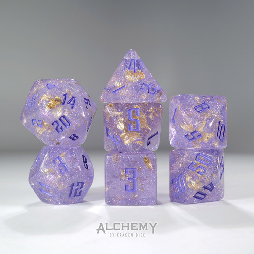 7pc Fragments of the Sun Glitter Lilac with Lilac Ink