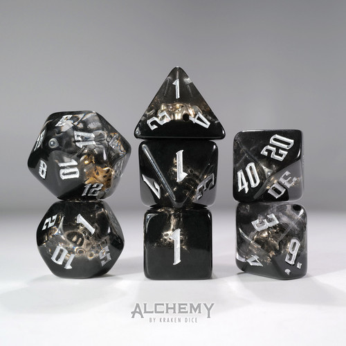 7pc Hidden Spirit  with Silver Ink by Alchemy Dice