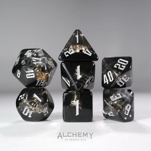 7pc Hidden Spirit  with Silver Ink by Alchemy Dice