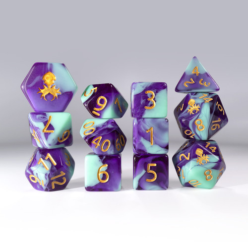12pc Gummi Dragon Polyhedral Dice Set
