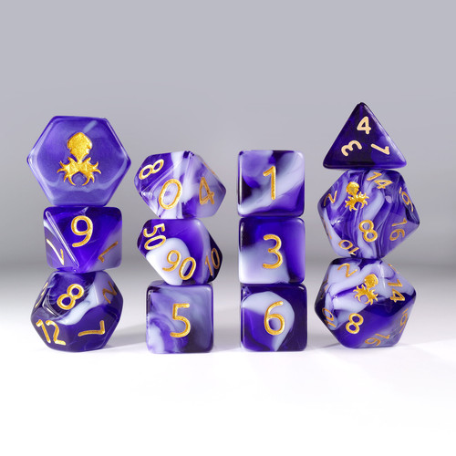 12pc Gummi Grape Smoothie Polyhedral Dice Set