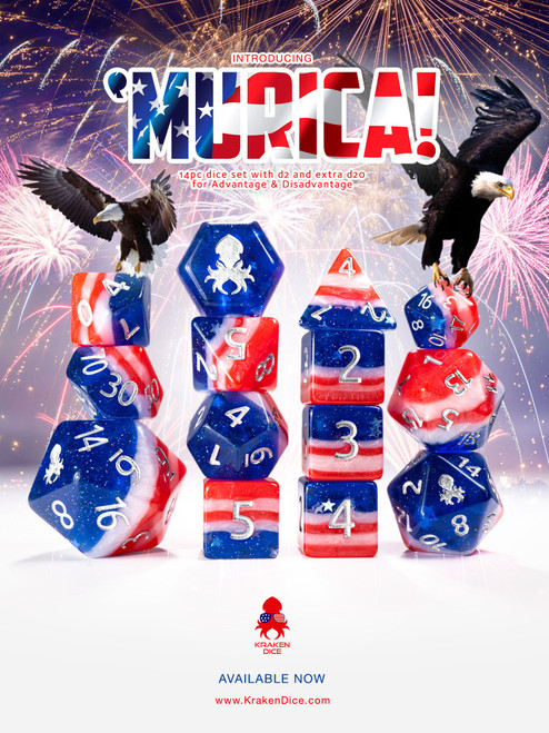 'Murica 14pc Limited Edition Charity Dice Set
