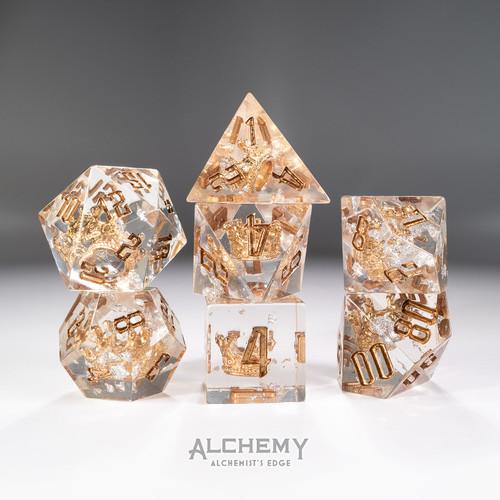 7pc Alchemist's Edge Moonlit Crown with Copper Ink by Alchemy Dice
