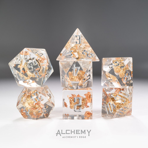 7pc Alchemist's Edge Venus Crown with Silver Ink by Alchemy Dice