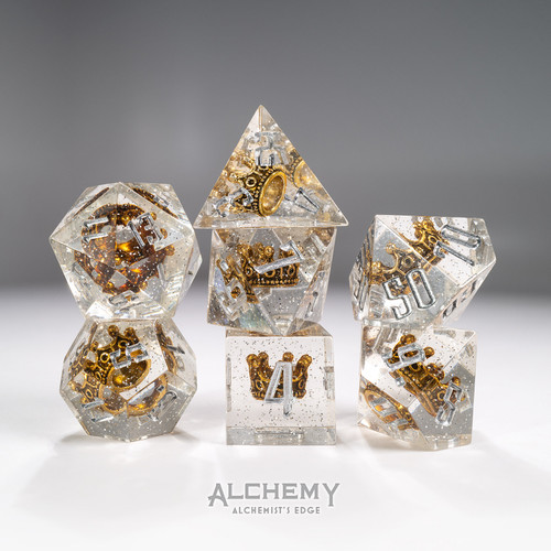 7pc Alchemist's Edge Royal Crown with Silver Glitter by Alchemy Dice