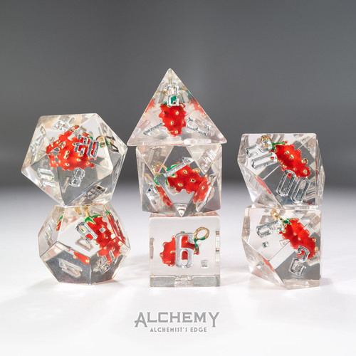 7pc Alchemist's Edge Strawberry by Alchemy Dice